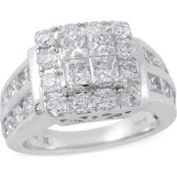 NY Close Out 14K White Gold Diamond (Rnd) (I1-I2/G-H) Ring 3.00 Ct, Gold wt 8.40 Gms.