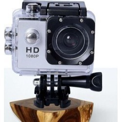 Waterproof 1080P HD Action Camera 120 Degree Wide Angle Lens with 400mAh Battery, 4GB Card, USB Cable (Size 6.0x4.1x3.0 Cm) - Silver and Black found on Bargain Bro UK from The Jewellery Channel