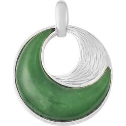 Green Jade Pendant in Rhodium Overlay Sterling Silver 14.75 Ct. found on Bargain Bro UK from The Jewellery Channel