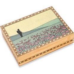 Wooden Jewellery Box with Hand-painted Gemstone Soldier (Size 20.3x15.2x5.5 Cm) - Multicolour