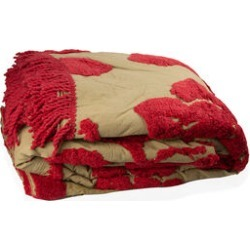 100% Cotton Sage Red Colour Tufted Bed Cover with Fringes (Size 260X240 Cm) and 2 Pillow Cases (Size 70X50 Cm) found on Bargain Bro UK from The Jewellery Channel