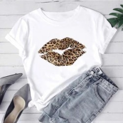 Kris Ana Leopard Kiss White T Shirt - Size: Large (12-14) found on Bargain Bro UK from The Jewellery Channel