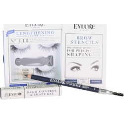 Day Eye Kit, Lengthening Lashes 118, Brow Stencils, Brow Gel, Brow Pencil Black found on Makeup Collection from The Jewellery Channel for GBP 10.91