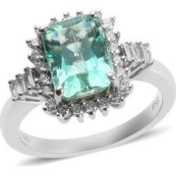 RHAPSODY 950 Platinum AAAA Boyaca Colombian Emerald and Diamond (VS/E-F) Ring 3.40 Ct, Platinum wt 6.90 Gms