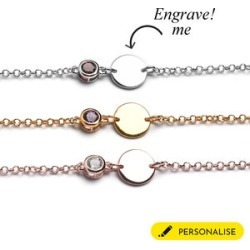 Personalised Initial and Birthstone Bracelet found on Bargain Bro UK from The Jewellery Channel