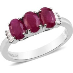 RHAPSODY 950 Platinum AAAA Burmese Ruby and Diamond Ring 1.90 Ct, Platinum wt. 4.56 Gms found on Bargain Bro UK from The Jewellery Channel