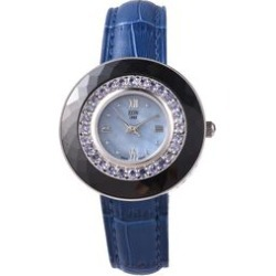 EON 1962 Swiss Movement Tanzanite (Rnd), Black Ceramic Water Resistant Watch in Rhodium Plating with Blue Leather Strap 11.40 Ct, Silver wt 17.00 Gms found on Bargain Bro UK from The Jewellery Channel