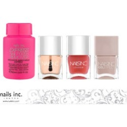 Nails Inc: Colville Mews (Gel Effect) - 14ml, Kensington Caviar Top Coat - 14, Kensington Caviar Base Coat - 14ml, Express Nail Polish Remover - 60ml & Nail File found on Makeup Collection from The Jewellery Channel for GBP 19.57