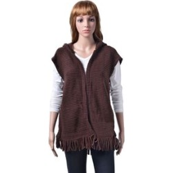 New Season- Chocolate Colour Gilet Cardigan (Size 60x55 Cm) found on Bargain Bro UK from The Jewellery Channel