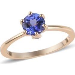 9K Yellow Gold AA Tanzanite (Rnd), Diamond Ring 1.03 Ct.