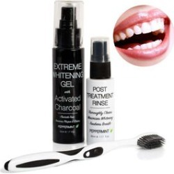 CB & CO Ultimate Teeth Whitening Activated Charcoal Trio Set found on Makeup Collection from The Jewellery Channel for GBP 10.38