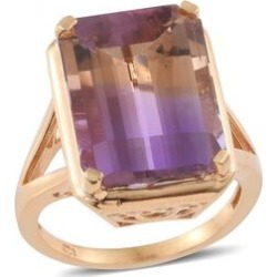 Collectors Edition - AAA Anahi Ametrine (Oct) Ring in 14K Gold Overlay Sterling Silver 15.500 Ct. found on Bargain Bro UK from The Jewellery Channel