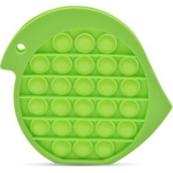 Push Bubble Stress Relieving Bird-Shape Fidget for Adults/Children in Lime Green with Letter S Written (12x14cm) found on Bargain Bro UK from The Jewellery Channel