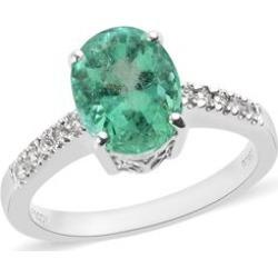 RHAPSODY 950 Platinum AAAA Boyaca Colombian Emerald (Ovl), Diamond (VS/E-F) Ring 3.00 Ct, Platinum wt 5.90 Gms