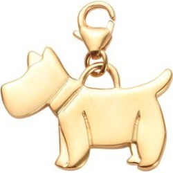 14K Gold Overlay Sterling Silver Scottish Terrier Dog Charm, Silver wt 3.32 Gms found on Bargain Bro UK from The Jewellery Channel