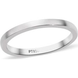 RHAPSODY 950 Platinum Band Ring (Shank width1.60mm Thickness 1.30mm), Platinum wt 3.00 Gms. found on Bargain Bro UK from The Jewellery Channel