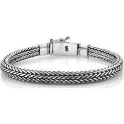 Royal Bali Collection Sterling Silver Tulang Naga Bracelet (Size 7.5), Silver wt 48.10 Gms.