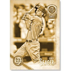 Corey Seager 2018 Topps Gypsy Queen Baseball Team Swap Error Cards Poster Gold Ed. - #'d to 1 found on Bargain Bro Philippines from Topps for $99.99