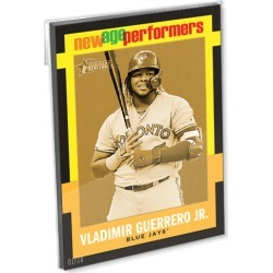 2020 Topps Heritage Baseball Oversized Complete New Age Performers Set (25 Cards) Gold Ed. - # to 10