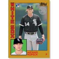 Michael Kopech 2019 Topps Baseball Series 2 1984 Topps Baseball Rookies Poster Gold Ed. # to 1