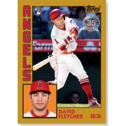 David Fletcher 2019 Topps Baseball Series 2 1984 Topps Baseball Rookies Poster Gold Ed. # to 1