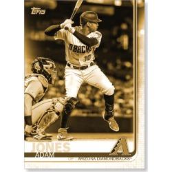 Adam Jones 2019 Topps Baseball Update Series Short Printed Base Card Photo Variation Poster Gold Ed. # to 1