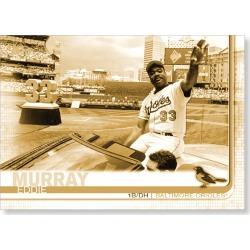 Eddie Murray 2019 Topps Baseball Update Series Short Printed Base Card Photo Variation Poster Gold Ed. # to 1