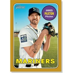 Yonder Paxton 2018 Topps Heritage Baseball Base Poster Gold Ed. - #'d to 1 found on Bargain Bro Philippines from Topps for $99.99