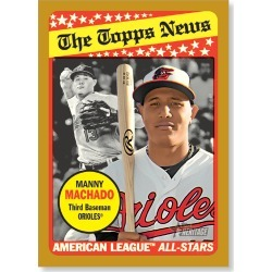 Manny Machado 2018 Topps Heritage Baseball Base Poster Gold Ed. - #'d to 1 found on Bargain Bro Philippines from Topps for $99.99