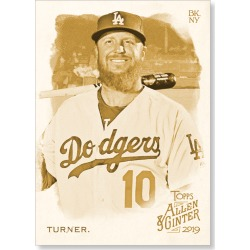 Justin Turner 2019 Topps Allen & Ginter Oversized Base Cards Poster Gold Ed. # to 1 found on Bargain Bro India from Topps for $99.99