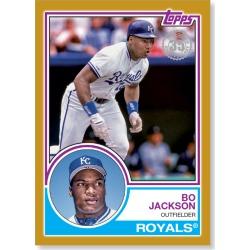 2018 Topps Series 1 Baseball Bo Jackson 1983 Topps Baseball Gold Ed. Poster - # to 1