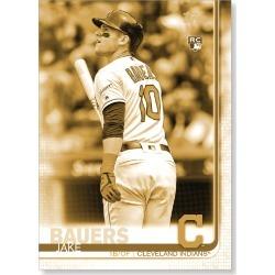 Jake Bauers 2019 Topps Baseball Update Series Short Printed Base Card Photo Variation Poster Gold Ed. # to 1