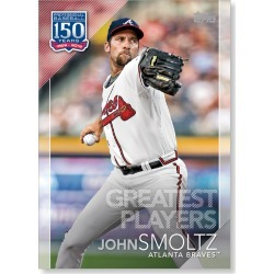 John Smoltz 2019 Topps Baseball Series 2 Greatest Players Poster # to 99