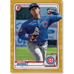 Brailyn Marquez 2020 Bowman Baseball Paper Prospects Poster Gold Ed. # to 1 found on Bargain Bro Philippines from Topps for $99.99