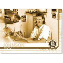 Randy Johnson 2019 Topps Baseball Update Series Short Printed Base Card Photo Variation Poster Gold Ed. # to 1