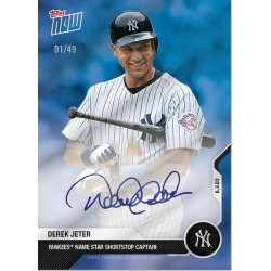 On-Card Chrome Auto # to 49 - Derek Jeter Career Retrospective Topps NOW® Chrome Card 2B