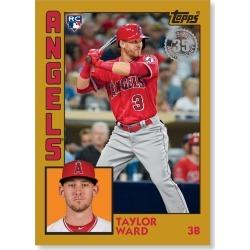 Taylor Ward 2019 Topps Baseball Series 2 1984 Topps Baseball Rookies Poster Gold Ed. # to 1