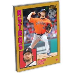 2019 Topps Baseball Update Series Oversized Complete 1984 Topps Baseball (50 Cards) Gold Ed. - # to 10