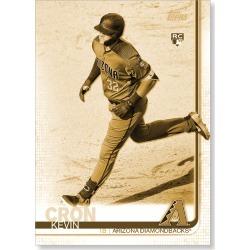 Kevin Cron 2019 Topps Baseball Update Series Short Printed Base Card Photo Variation Poster Gold Ed. # to 1
