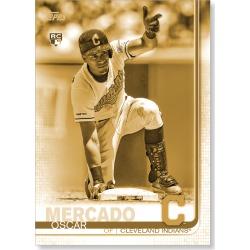 Oscar Mercado 2019 Topps Baseball Update Series Short Printed Base Card Photo Variation Poster Gold Ed. # to 1