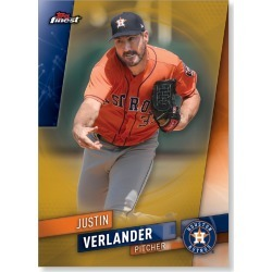 Justin Verlander 2019 Topps Finest Baseball Extended Set Base Cards Poster Gold Ed. # to 1 found on Bargain Bro India from Topps for $99.99