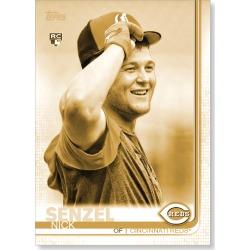 Nick Senzel 2019 Topps Baseball Update Series Short Printed Base Card Photo Variation Poster Gold Ed. # to 1
