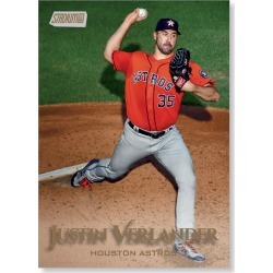 Justin Verlander 2019 Topps Stadium Club Baseball Base Cards Poster Gold Ed. # to 1 found on Bargain Bro India from Topps for $99.99