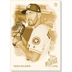 Justin Verlander 2019 Topps Allen & Ginter Oversized Base Cards Poster Gold Ed. # to 1 found on Bargain Bro India from Topps for $99.99
