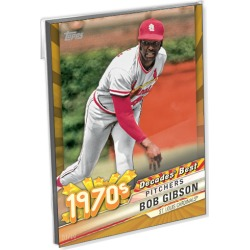 2020 Topps Series 1 Baseball Oversized Complete Decades Best 1970's Set (10 Cards) Gold Ed. - # to 10