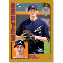 Kyle Wright 2019 Topps Baseball Series 2 1984 Topps Baseball Rookies Poster Gold Ed. # to 1