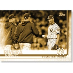 Mariano Rivera 2019 Topps Baseball Update Series Short Printed Base Card Photo Variation Poster Gold Ed. # to 1