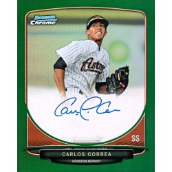 Carlos Correa Autographed Astros Jumbo Card - 2013 Bowman Chrome Green # to 50 found on Bargain Bro India from Topps for $299.99