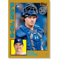 Reese McGuire 2019 Topps Baseball Series 2 1984 Topps Baseball Rookies Poster Gold Ed. # to 1