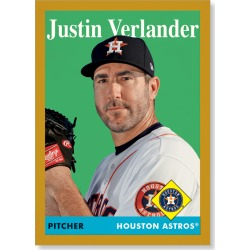 Justin Verlander 2019 Archives Baseball 1958 Topps Poster Gold Ed. # to 1 found on Bargain Bro India from Topps for $99.99